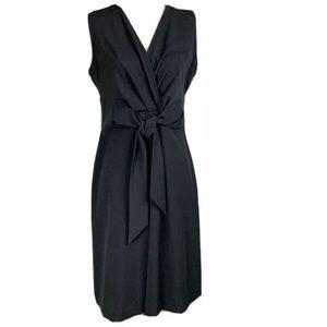 New York & Company Black Dress Tie Waist NWT 6